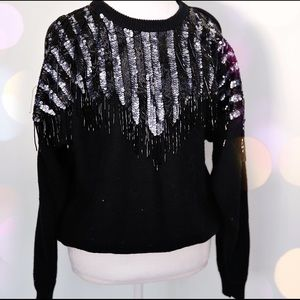 80s party sweater large